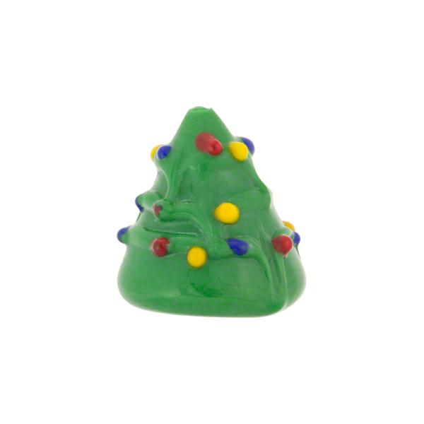 Christmas tree lampwork murano glass bead 15mm - Murano glass christmas tree ...