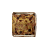 Chocolate Murano Glass with Avventurina Sparkles 17mm Square