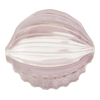 Murano Glass Bead Pale Violet Blown Chevron Ground Penny 30mm