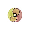 Peridot Purple Bi-color Cipollina 15mm Blown Murano Glass Bead
