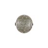 Venetian Bead Bollicine Round 12mm Lt Steel over Silver Foil