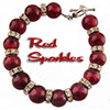 Ruby Red and Silver Rondelles Bracelet Kit 6.5In
