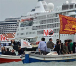 Protest Again Large Cruise Ships