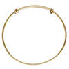 Adjustable 14/20 Gold Fill Bangle 8-9.5 Inches 1.65mm