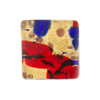 Red Blue Gold Foil Cabochon Sq 20mm Fused Murano Glass