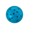 Aqua Silver Foil Dots Cabochon 20mm Murano Glass Bead