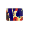 Red/Cobalt Flat Back Cabochon Gold Foil 20x15