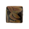 Calcedonia Murano Glass Bead, Black, 20mm Square