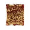 Red Ca'd'oro Gold Foil Rectangle 25mm