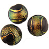 Black Coral Shimmers Dichroic Murano Glass Disc Bead, 16mm