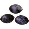 Black Pink Pastels Dichroic Oval  18mm