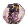 Venetian Bead Dichroic Sparkles Pebble, Rosato Gold 25mm