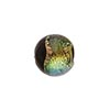 Black Coral Shimmers Dichroic Murano Glass Round Bead, 12mm