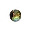 Black Coral Shimmers Dichroic Murano Glass Round Bead, 14mm