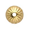 4.5mm Bright Gold Plated Beadcap, Pack of 10