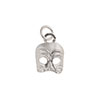 Arlecchino Sterling Silver Mask Charm