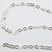 4X3mm Fancy Cable Chain Diamond Shape .925 Sterling Silver, per Foot