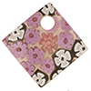 Murano Glass Curved Diagonal Pendant 30mm Purple Millefiori