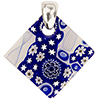 Fused Murano Glass Pendant Multi Blue Diamond