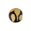 Murano Glass Bead Giglio Round Topaz,Black 14mm