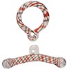 Boro Glass Toggle Clasp 20mm Red,Chocolate Spirals