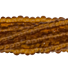 Bronze 13/0 Czech Seed Bead 6 Strand Hank 20 Inches