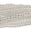 Clear Silver 13/0 Czech Seed Bead 12 Strand Hank 20 Inches