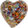 Klimt Millefiori Murano Glass Heart, 35mm, Gold Foil
