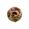 Gold Klimt Murano Glass Bead, Clear Round 18mm