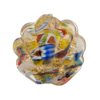 Venetian Bead Klimt Shell Multi 25mm Gold Foil