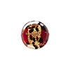 Red Leopard Print Gold Foil Coin 14mm