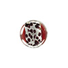 Red Chocolate Leopard Print Silver Foil Coin 14mm