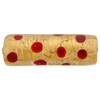 Leopard Tube 32mm Red Gold Foil