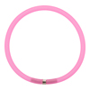 4mm Rubber Tube Bracelet 7.5 Inches, Fuchsia