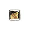 Black Gold Silver Aventurina Luna Cube 12mm, Murano Glass Beads