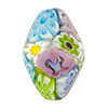 Multi Pastel Millefiori Bicone 26mm Murano Glass Bead