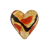 Red Gold Miro Heart 20mm