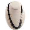 Black Seedbead Necklace 20Inches 12 Strands 13/0