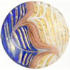 White, Cobalt Fenicio Gold Foil Disc 37mm