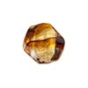 Topaz, Black Striped Gold Foil Murano Glass Pebble Bead 15mm