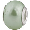 50% Off! Lt Green Painted Bead Sterling Insert