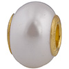 50% Off! White Painted Bead Vermeil Insert