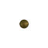 Acciaio (Steel) 6mm Gold Foil Round Venetian Glass Bead