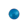 Aqua Silver Foil Round 12mm, Murano Glass Bead