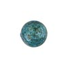 Aqua over White Gold Foil Murano Glass Bead, 14mm, Round