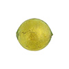 Peridot Gold Foil 16mm Round Venetian Beads