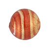 Rubino Striped Gold Venetian Beads Gold 20mm Round