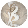 Scavo Textured Murano Glass Disc Bead, Steel & Exterior Gold, 20mm