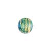 Serale Murano Glass Bead, Aqua/Aquamarine, Round, 10mm