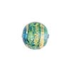 Serale Murano Glass Bead, Aqua/Aquamarine, Round, 14mm